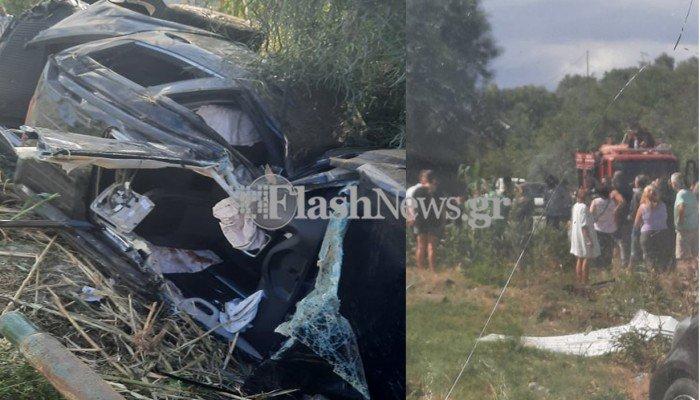 Σοβαρό τροχαίο ατύχημα στην εθνική οδό Χανίων – Ρεθύμνου – Δυο πολυτραυματίες (φωτο)