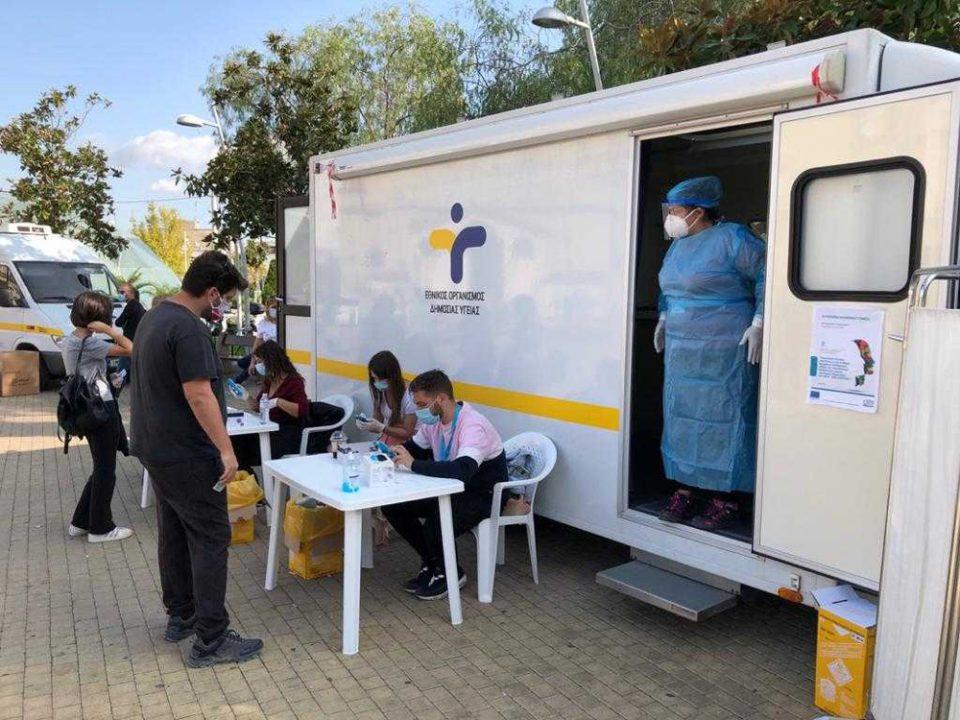 Κορονοϊός-Συναγερμός στο Περιστέρι: 31 κρούσματα με μέση ηλικία τα 35 έτη από τους ελέγχους του ΕΟΔΥ