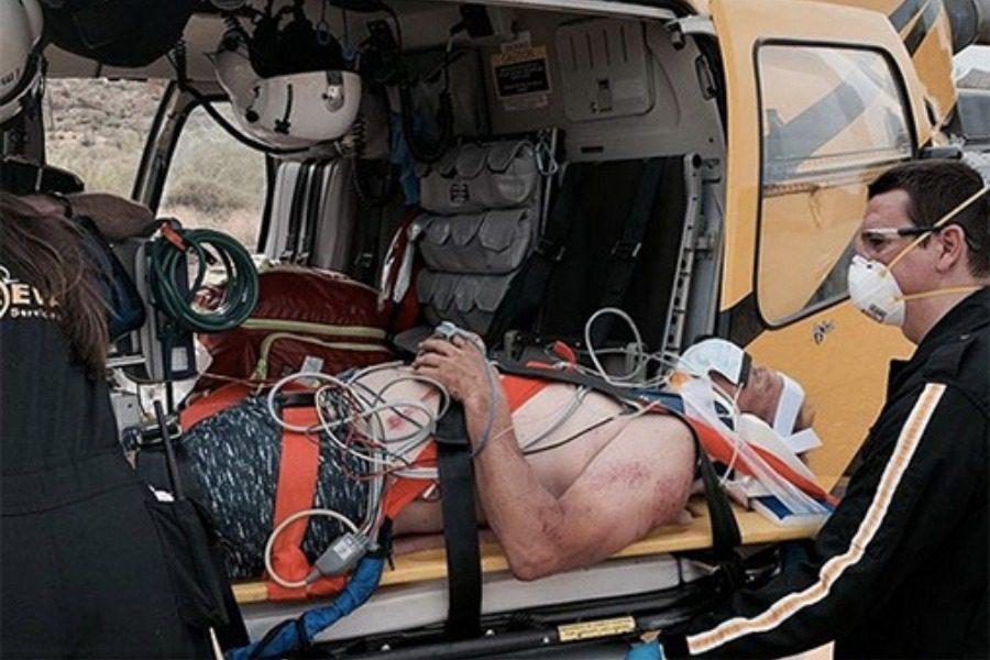 Ανδρας καταπλακώθηκε από βράχο τεσσάρων τόνων και επέζησε