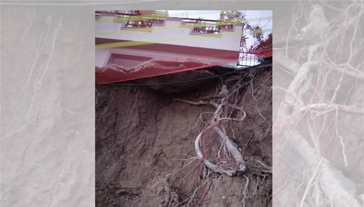 Επικίνδυνη κατολίσθηση στις Βούτες – «Κατέρρευσε» τμήμα του δρόμου