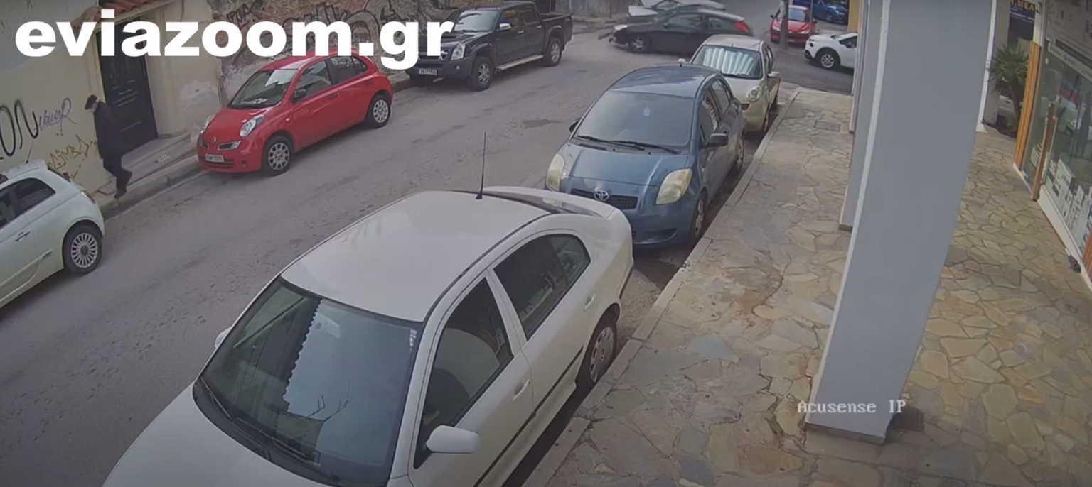 """Χαλκίδα: Παραβίασε STOP και έγινε το """"μπαμ! – Το """"έπιασε"""" κάμερα ασφαλείας (video)"""