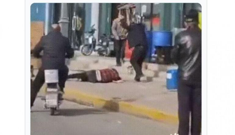 Σοκαριστικό βίντεο: Χτύπησε την γυναίκα του μέχρι θανάτου στη μέση του δρόμου