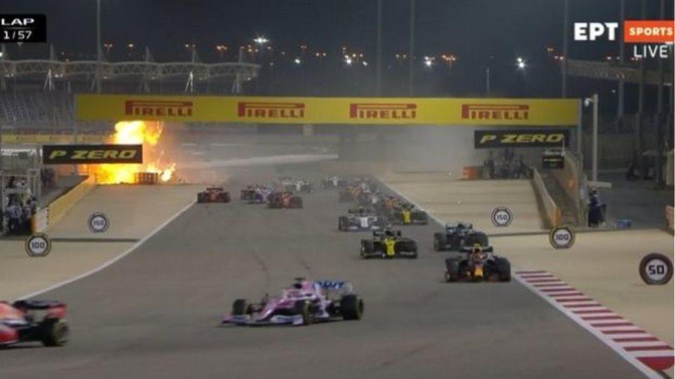 Φοβερό ατύχημα στη Formula 1: Εξερράγη το μονοθέσιό του Γκροζάν