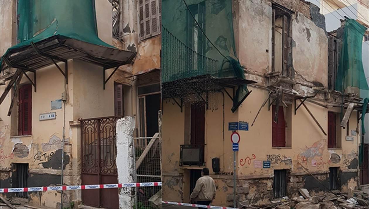 Κατεδαφίζεται τμήμα του άκρως επικίνδυνου κτηρίου όπου κατέρρευσε μπαλκόνι