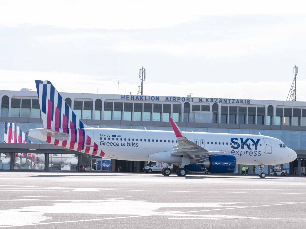 SKY express_Η πρώτη, τιμητική, πτήση για το νέο Airbus A320neo της SKY express στο Ηράκλειο Κρήτης