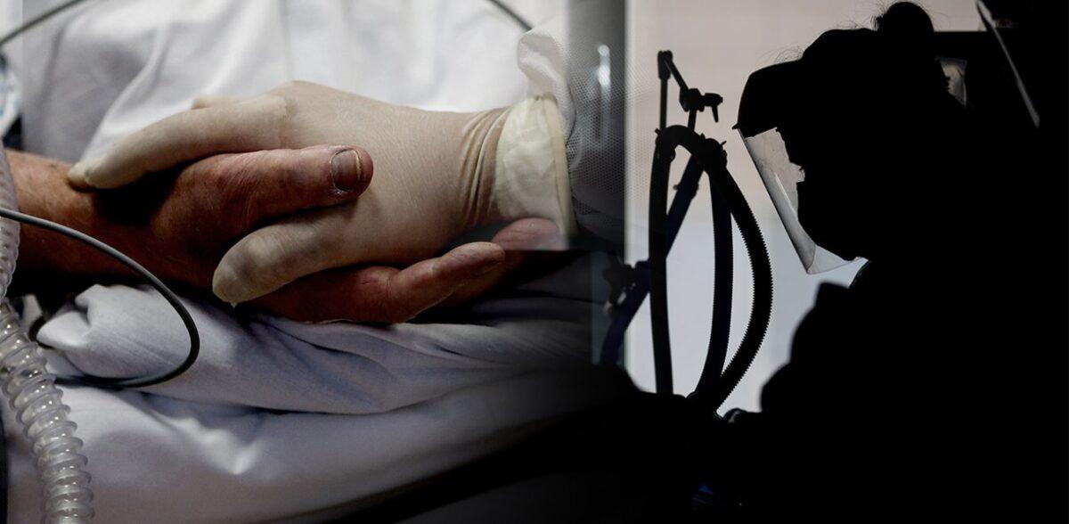 Φωτογραφία «γροθιά» στο στομάχι: Τάμπλετ έξω από ΜΕΘ για το τελευταίο αντίο των συγγενών