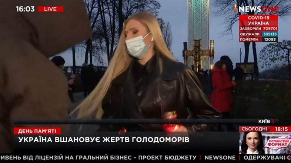 Επίθεση σε δημοσιογράφο σε ζωντανή μετάδοση στην Ουκρανία