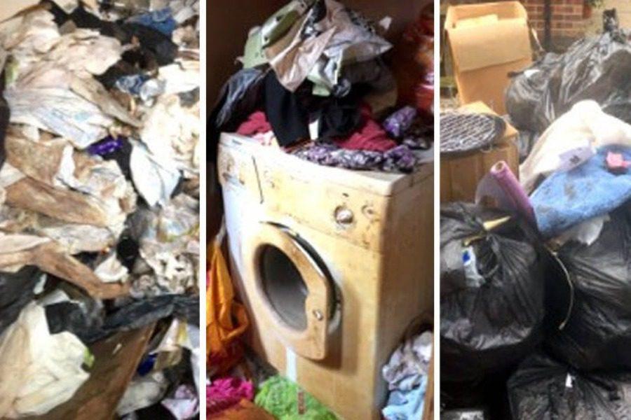 Εικόνες που σοκάρουν: Δεν πετούσε τα σκουπίδια για χρόνια