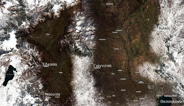 Κακοκαιρία Λέανδρος: Κάλυψε με χιόνι το 30% της έκτασης της Ελλάδας – Δείτε δορυφορικές εικόνες