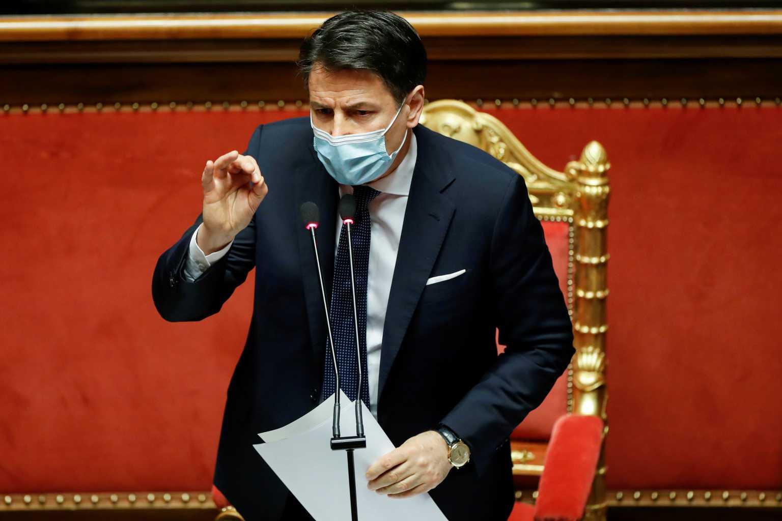 Ιταλός πρωθυπουργός: Θα προσφύγουμε κατά των φαρμακοβιομηχανιών για τα εμβόλια