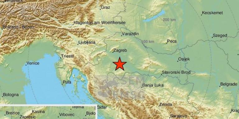 Νέος ισχυρός σεισμός στην Κροατία, μεγέθους 5 Ρίχτερ