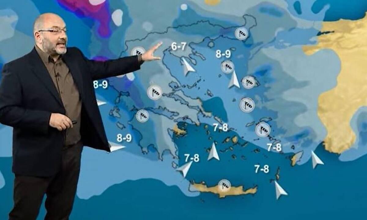 Καιρός – Αρναούτογλου: Προσαρμογή προς… χειμώνα στα μέσα του Φλεβάρη