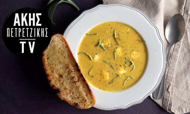 Φτιάξτε σούπα κολοκύθας όπως ο Άκης Πετρετζίκης!
