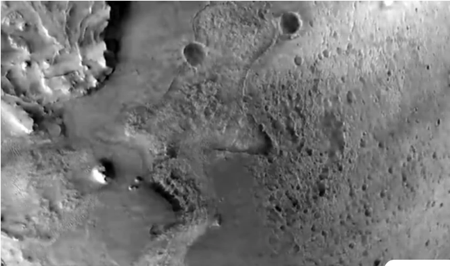 Nέο εντυπωσιακό βίντεο από τη NASA: Καρέ καρέ η κάθοδος στον Άρη με φόντο έναν κρατήρα