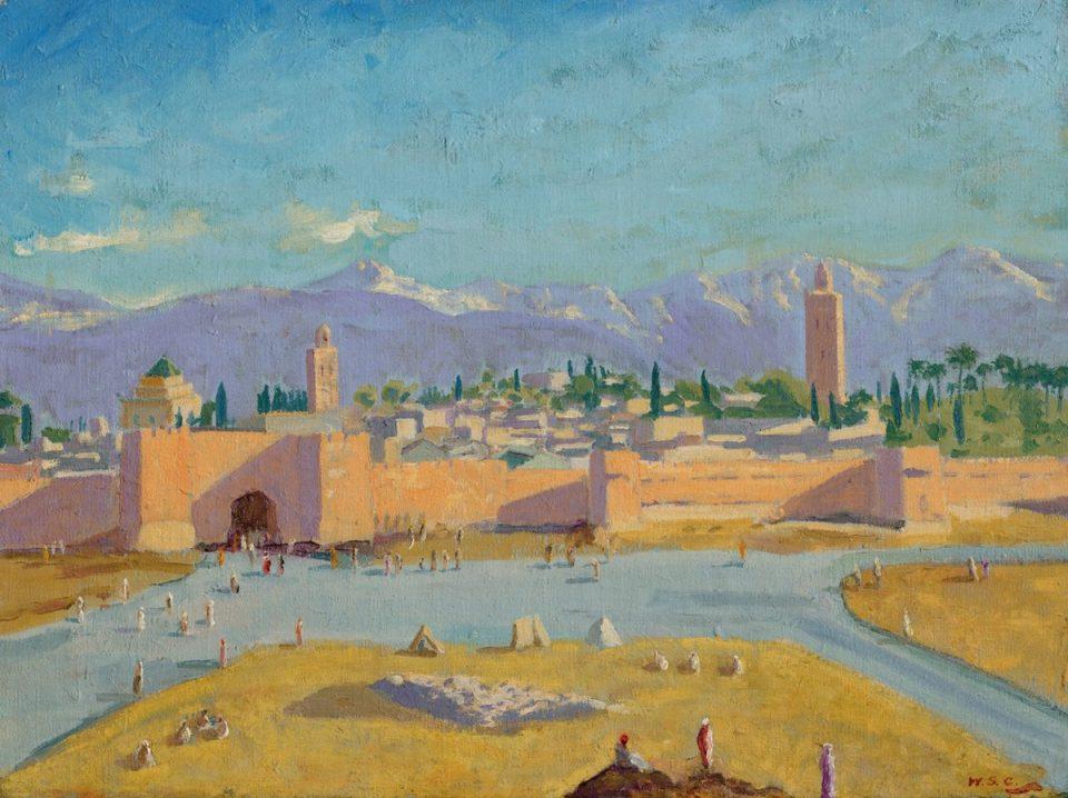 Πίνακας του Ουίνστον Τσόρτσιλ που ανήκε στην Αντζελίνα Τζολί δημοπρατείται σε τιμή-ρεκόρ