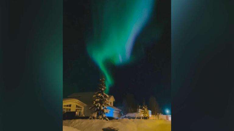 Το Βόρειο Σέλας όπως είναι ορατό στον Καναδά
