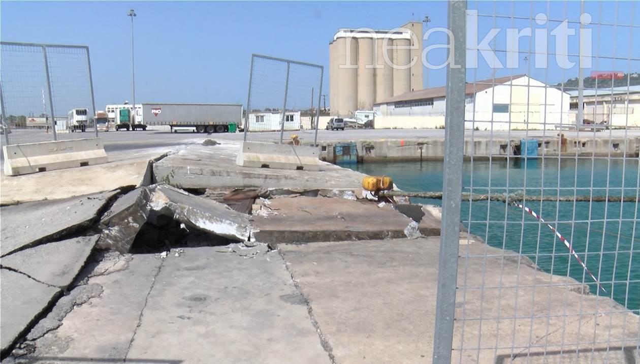Λιμάνι Σούδας: Πλοίο προσέκρουσε στον προβλήτα
