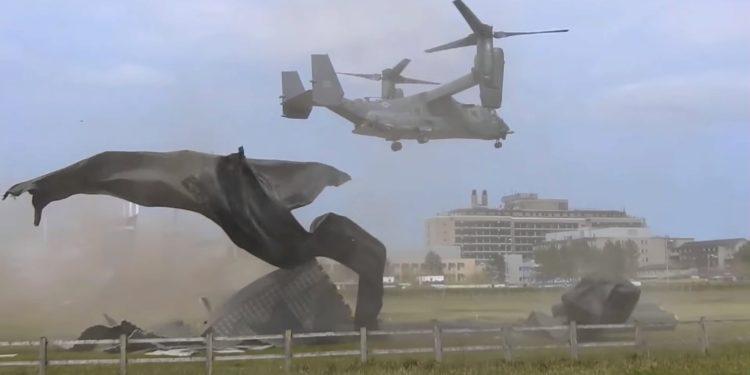 Απίστευτη «γκάφα» της USAF: Osprey κατέστρεψε ελικοδρόμιο νοσοκομείου – Έξαλλοι οι Άγγλοι [vid]