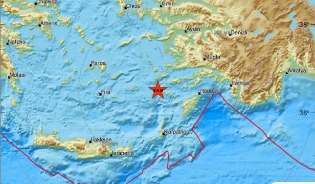 Σεισμός τώρα κοντά στην Κω