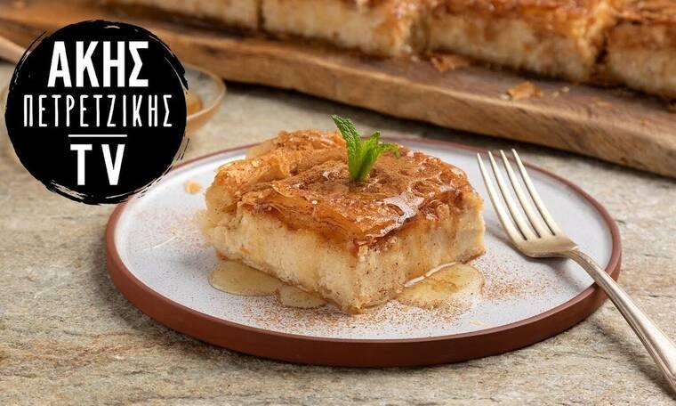 Γλυκιά τυρόπιτα από τον Άκη Πετρετζίκη