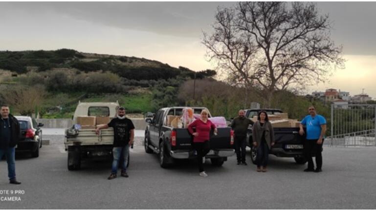 Βοήθεια στους σεισμόπληκτους της Ελασσόνας από Συλλόγους του Ρεθύμνου