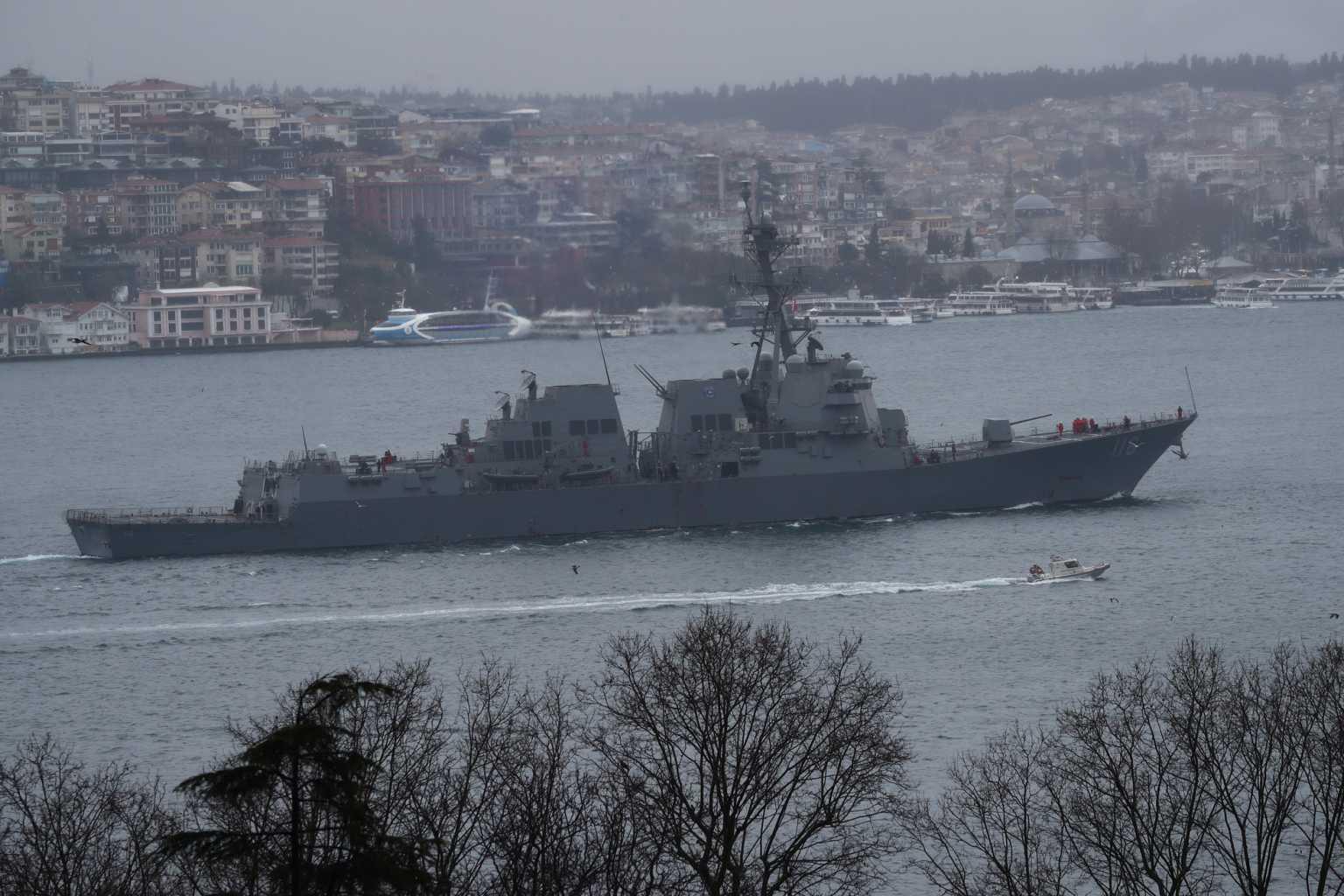 Μυρίζει Μπαρούτι στη Μαύρη Θάλασσα – Δυο πολεμικά πλοία των ΗΠΑ στην περιοχή