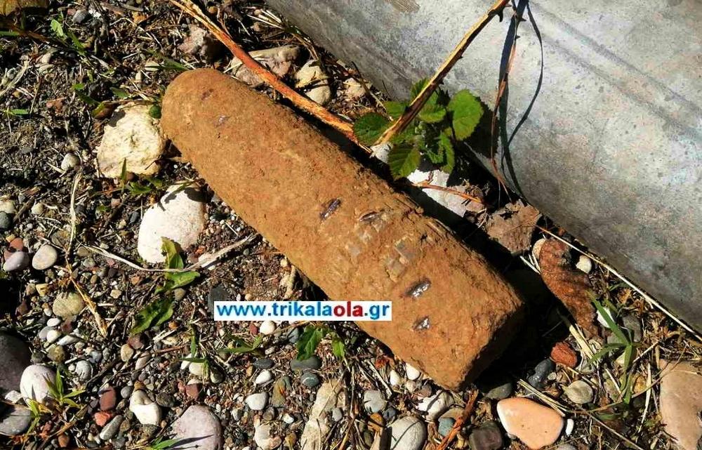 Τρίκαλα: Εξουδετέρωση βλήματος του Β' Παγκοσμίου Πολέμου με ελεγχόμενη έκρηξη [pics, vid]
