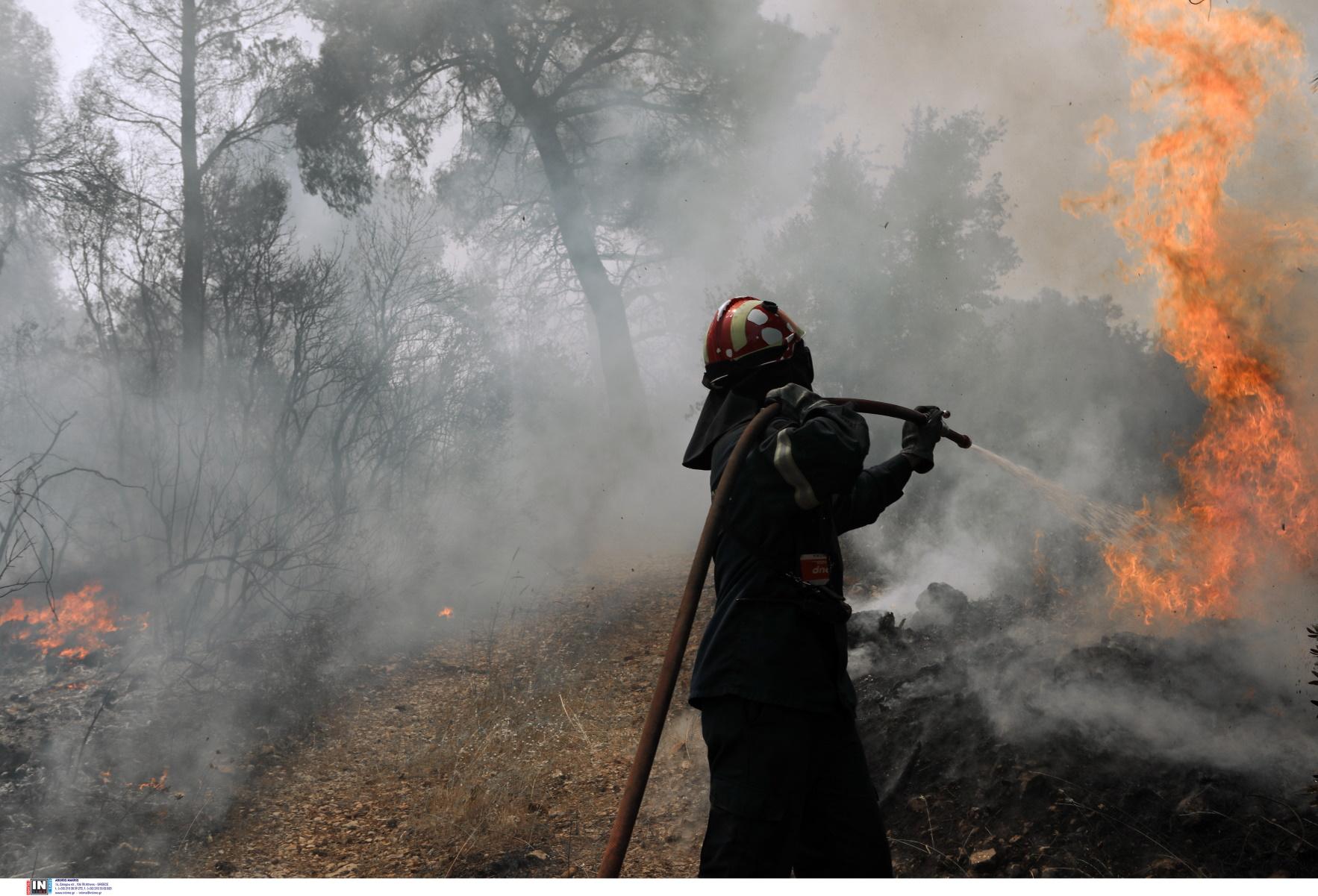 Συναγερμός για φωτιά έξω από το Ηράκλειο