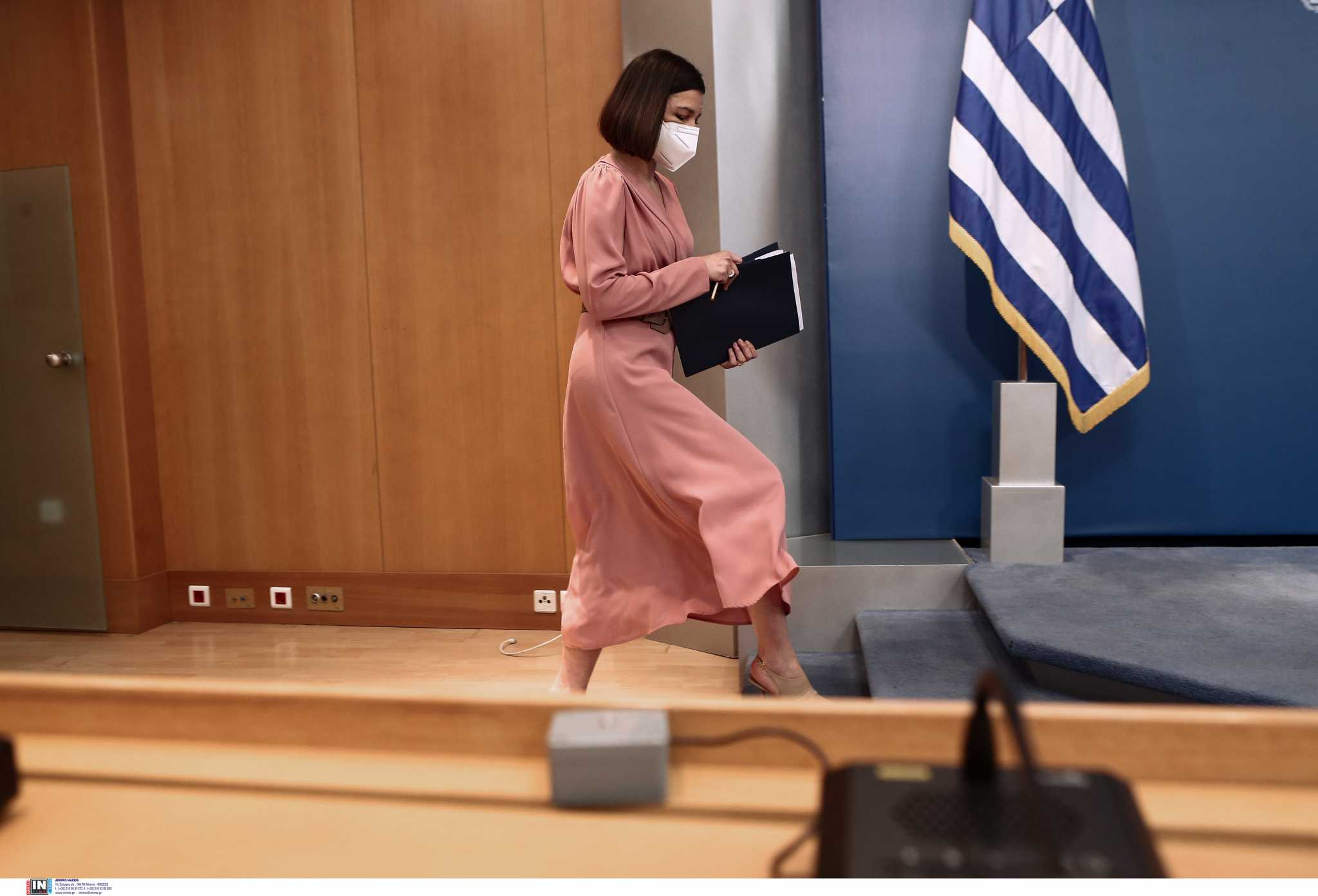 Live: Η ενημέρωση από την κυβερνητική εκπρόσωπο Αριστοτελία Πελώνη σήμερα 27/05