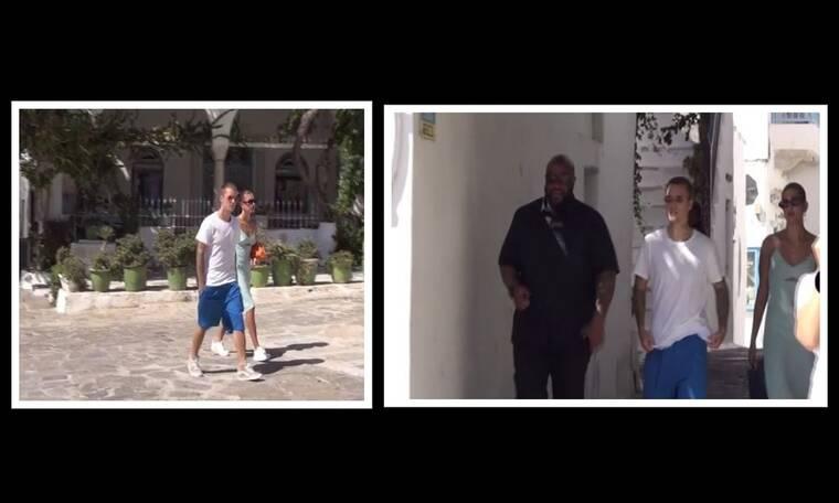 Justin Bieber – Hailey Baldwin: Νέα πλάνα από τις διακοπές τους στη Μύκονο