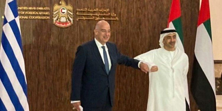 Δένδιας και Αλ Ναχιάν συζήτησαν τη στρατηγική συνεργασία Ελλάδας – ΗΑΕ