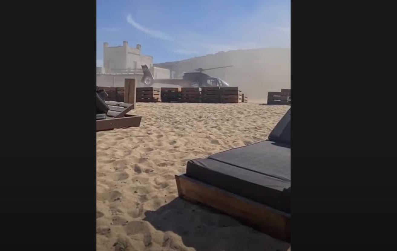 Μύκονος: Συγγνώμη ζητά ο επιχειρηματίας που προσγειώθηκε με ελικόπτερο σε παραλία (video)