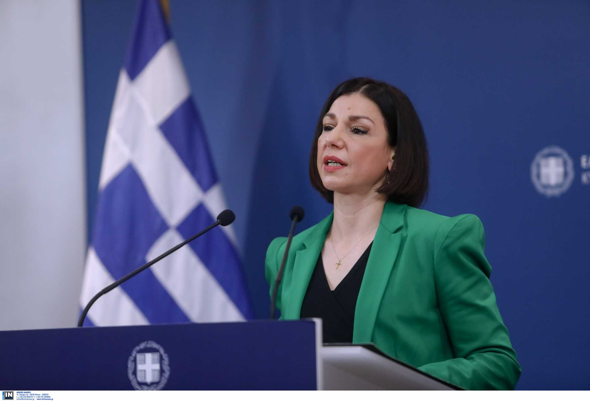 Live: Η ενημέρωση από την κυβερνητική εκπρόσωπο, Αριστοτελία Πελώνη