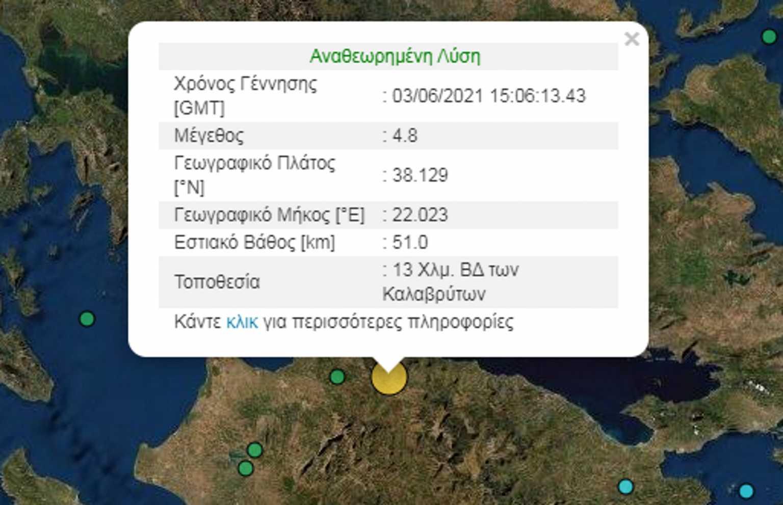 Σεισμός στο Αίγιο – Αισθητός και στην Αττική