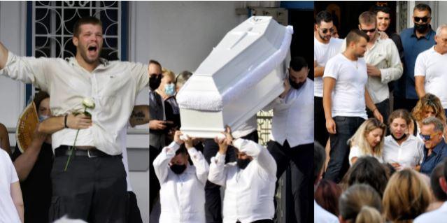 Ανείπωτος θρήνος και οργή στην κηδεία της Γαρυφαλλιάς -«Δολοφόνησες και την οικογένειά της»