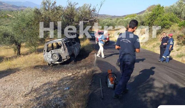 Φρίκη στην Κορινθία: Ο ιερέας της Αλμυρής είναι ο νεκρός που βρέθηκε σε καμένο όχημα
