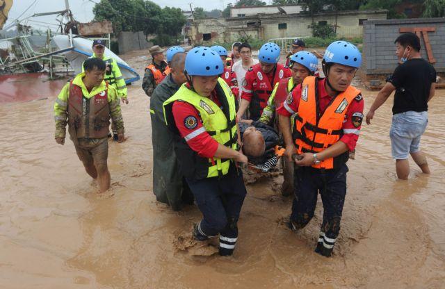 Πλημμύρες στην Κίνα: Στους 33 οι νεκροί – Άλλοι 8 άνθρωποι εξακολουθούν να αγνοούνται