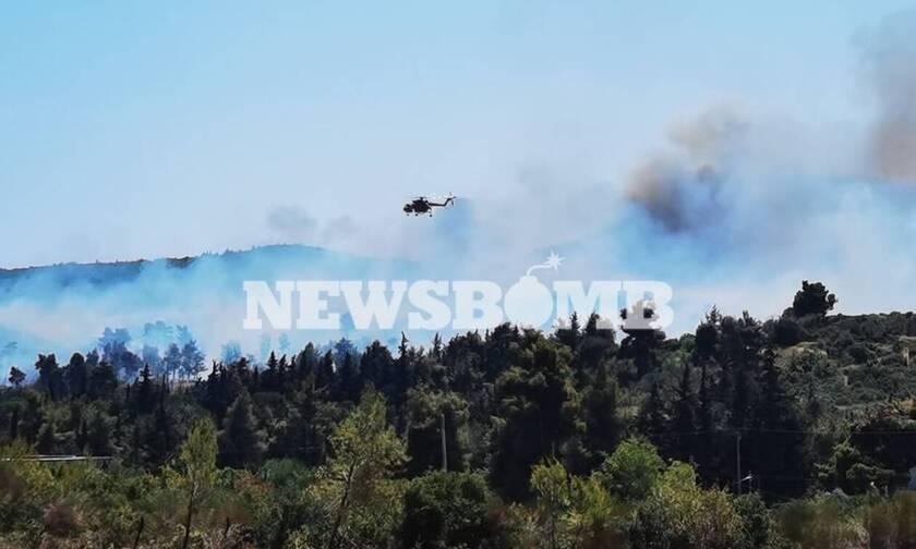 Φωτιά ΤΩΡΑ στη Σταμάτα: Μήνυμα έκτακτης ανάγκης από το 112 – Εκκενώθηκε οικισμός