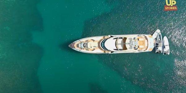Το θηριώδες yacht που εξέπεμψε SOS στα Λιχαδονήσια από ψηλά – Εντυπωσιακό βίντεο