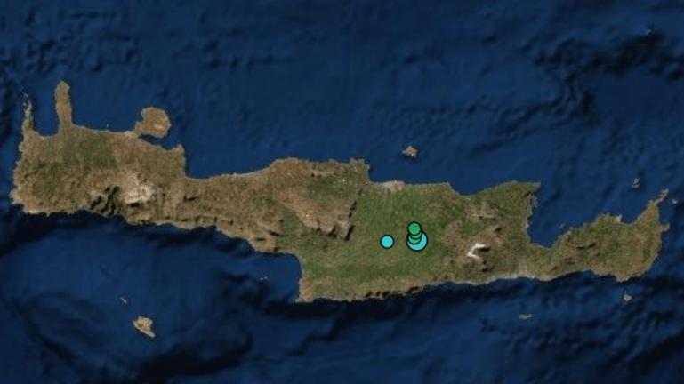 Νέος σεισμός στην Κρήτη τα ξημερώματα