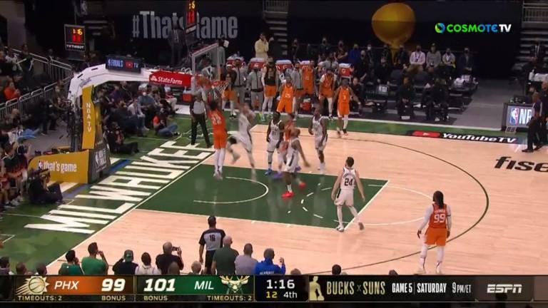 Τελικοί NBA: Το μπλοκ της χρονιάς από τον Αντετοκούνμπο