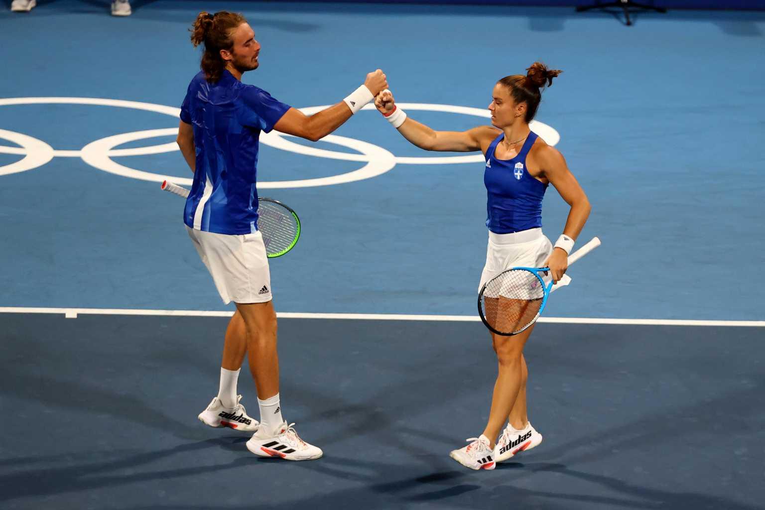 Ολυμπιακοί Αγώνες, Στέφανος Τσιτσιπάς – Μαρία Σάκκαρη: Αποκλεισμός και στο μεικτό του τένις