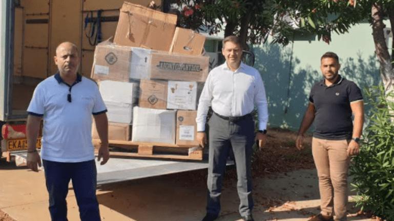 Δ. Χερσονήσου: Αποστολή ειδών πρώτης ανάγκης στους πυρόπληκτους