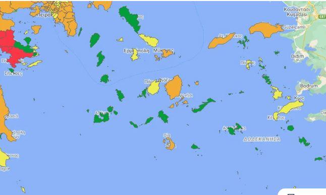 Κορονοϊός: Αυτές είναι οι «πράσινες» περιοχές της Ελλάδας