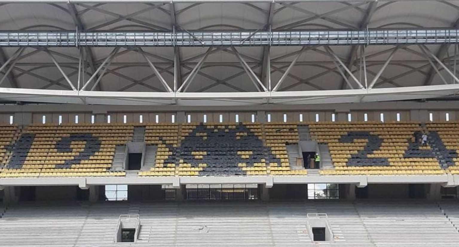 Γήπεδο ΑΕΚ: Σχηματίστηκε το «1924» και ο δικέφαλος αετός στην «Αγιά Σοφιά»