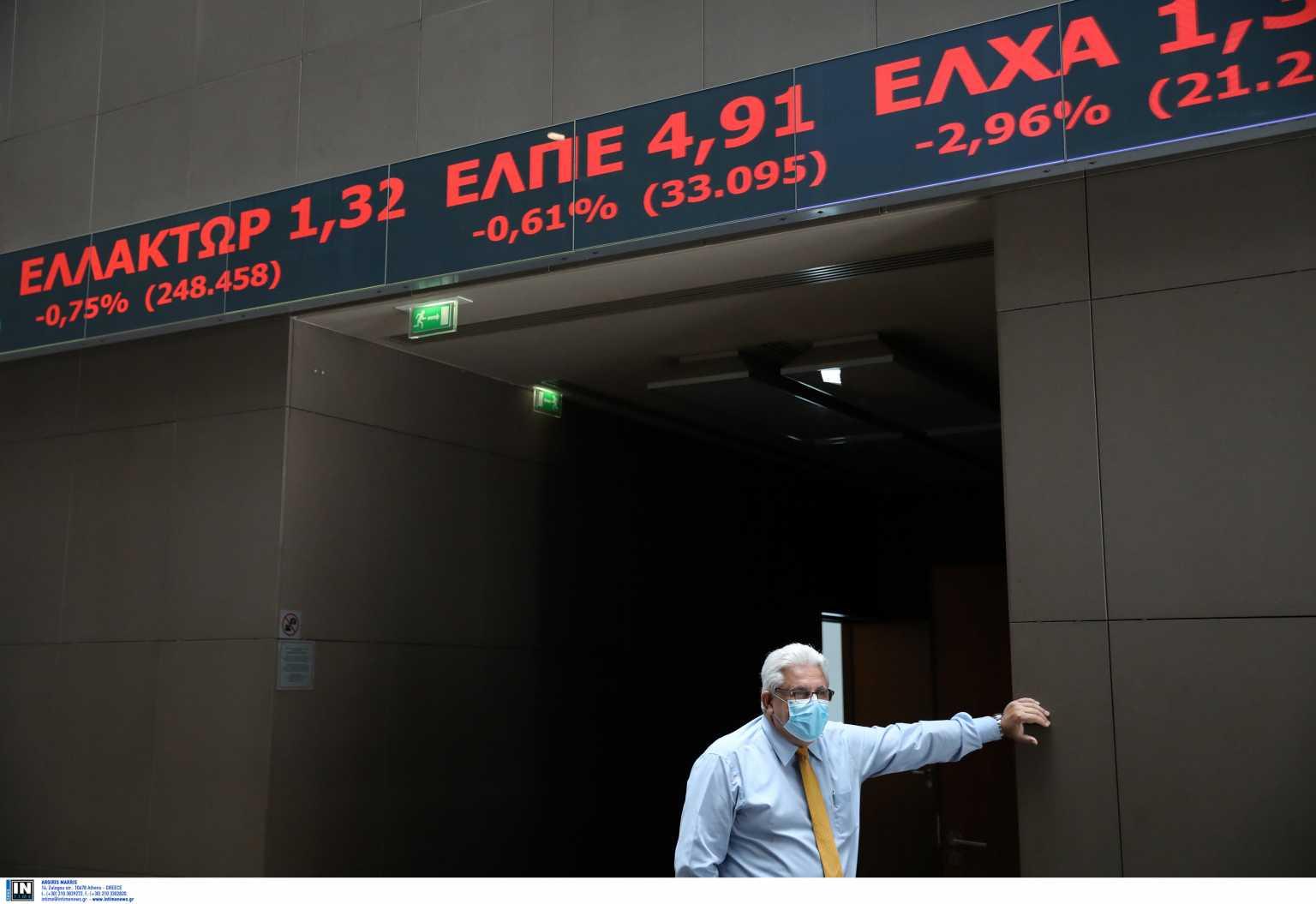 Χρηματιστήριο Αθηνών: Έκλεισε με ήπια πτώση