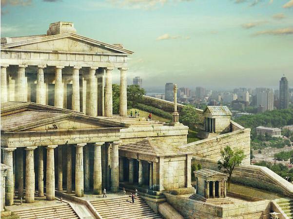 Δέκα θρυλικά αρχαία μνημεία στο σήμερα – Πώς θα ήταν η Ακρόπολη και ο Κολοσσός της Ρόδου