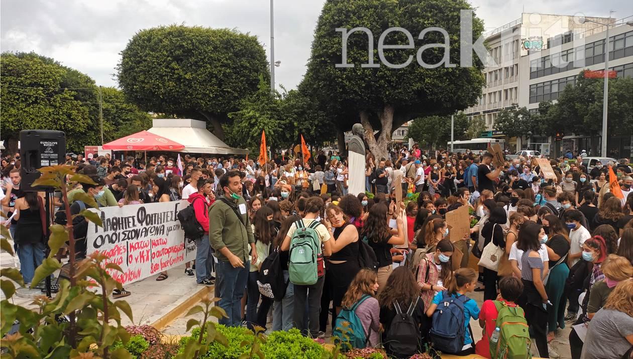Xανιά: Δυναμικό πανεκπαιδευτικό συλλαλητήριο (εικόνες)