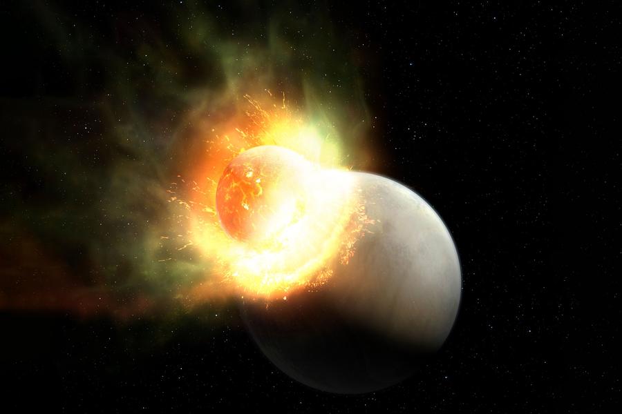 Κοσμική σύγκρουση απογύμνωσε άτυχο πλανήτη από την ατμόσφαιρά του