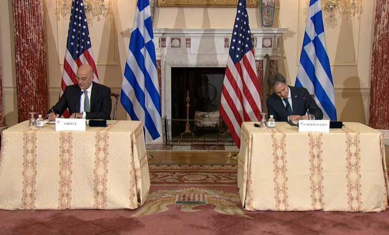 Αμυντική συμφωνία Ελλάδας – ΗΠΑ: LIVE οι υπογραφές Νίκου Δένδια και Άντονι Μπλίνκεν